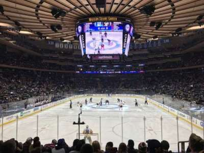 Madison Square Garden, section: 112, row: 12, seat: 15