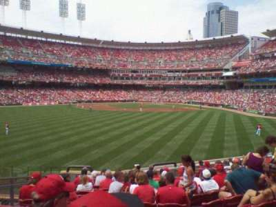 Great American Ball Park, section: 101, row: m, seat: 12