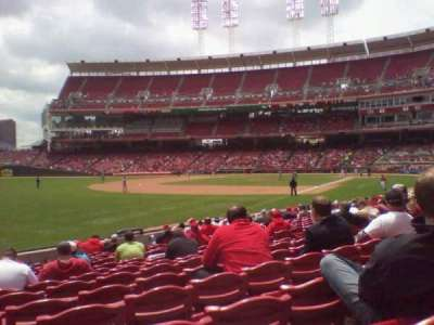 Great American Ball Park, section: 111, row: S, seat: 12