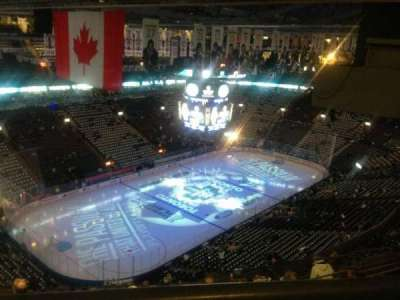 Air Canada Centre, section: 312, row: 1, seat: 20
