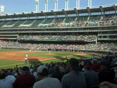 Progressive Field, section: 171, row: DD, seat: 7