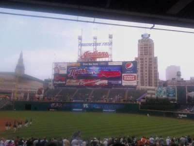 Progressive Field, section: 131, row: CC, seat: 7