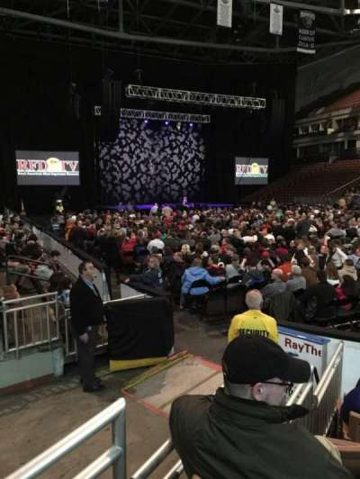 SNHU Arena, section: 104, row: F, seat: 2