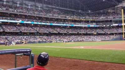 Miller Park, section: 111, row: 1, seat: 1