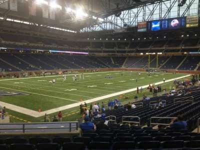 Ford Field section 100