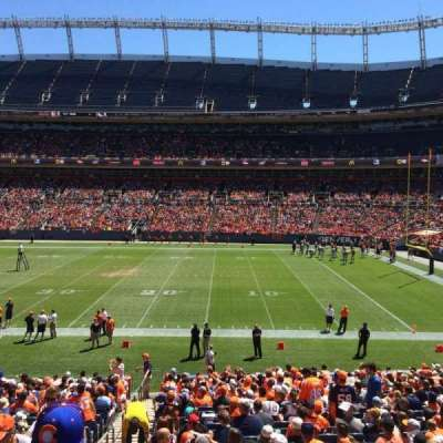Sports Authority Field at Mile High, section: 102, row: 25, seat: 9