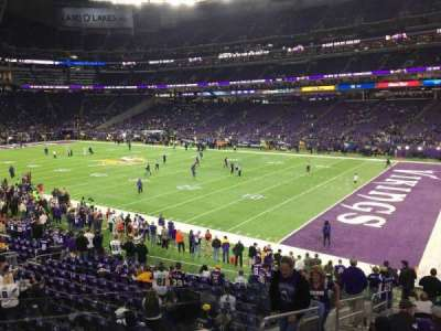 U.S. Bank Stadium, section: 124, row: 19, seat: 30