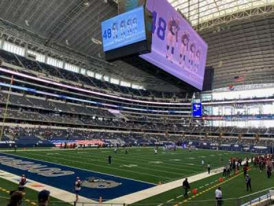 AT&T Stadium, section: 144, row: 10, seat: 18