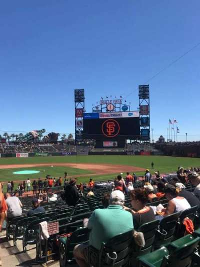 Oracle Park section 112