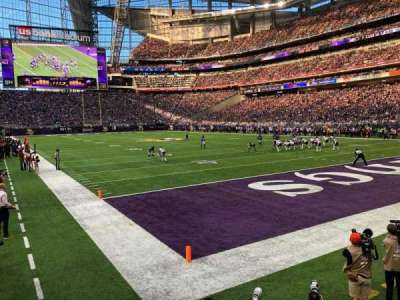 U.S. Bank Stadium, section: 122, row: 4, seat: 13