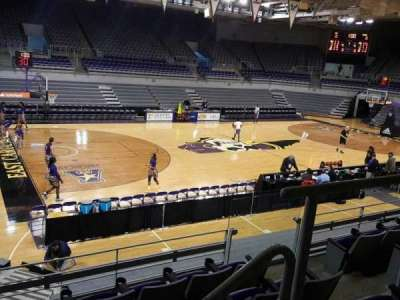 Williams Arena at Minges Coliseum, section: 201, row: E, seat: 2