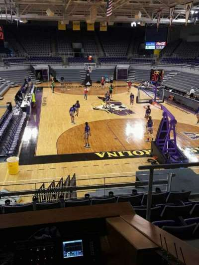 Williams Arena at Minges Coliseum, section: 204, row: G, seat: 2
