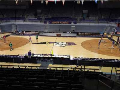 Williams Arena at Minges Coliseum, section: 207, row: L, seat: 1