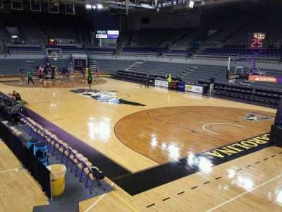 Williams Arena at Minges Coliseum, section: 213, row: A, seat: 10
