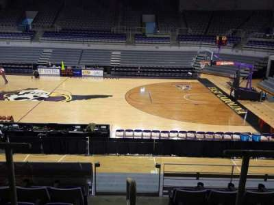 Williams Arena at Minges Coliseum, section: 214, row: F, seat: 17