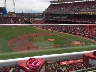 Great American Ball Park, section: Mezzanine 416, row: A, seat: 18