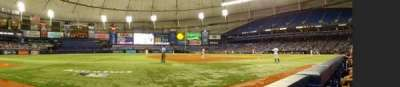 Tropicana Field, section: 123, row: B, seat: 10
