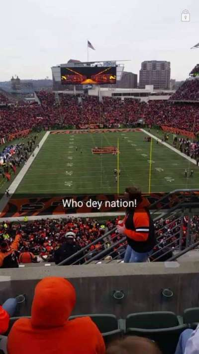 Paul Brown Stadium, section: 228, row: 16, seat: 4