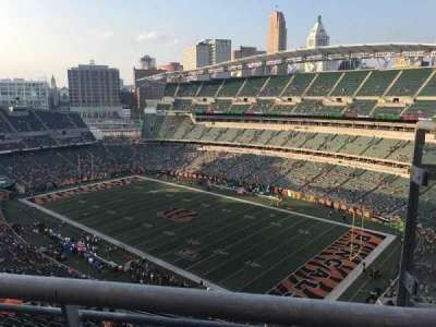 Paul Brown Stadium, section: 304, row: 13, seat: 2