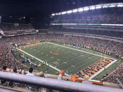 Paul Brown Stadium, section: 303, row: 13, seat: 1