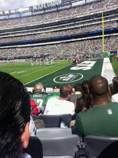 MetLife Stadium, section: 133, row: 6, seat: 9
