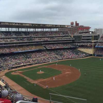 Target Field, section: 203, row: 5, seat: 24