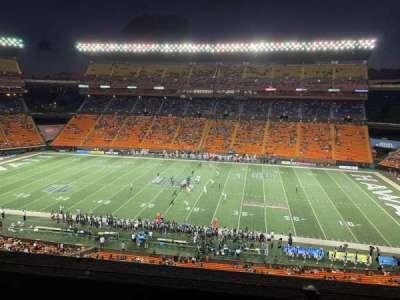 Aloha Stadium, section: Mauka Brown MM, row: 1, seat: 7