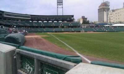 Chukchansi Park, section: 128, row: 1, seat: 8