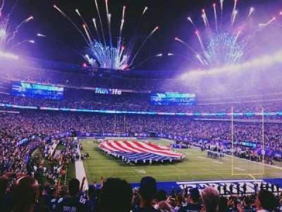 MetLife Stadium, section: 104, row: 34