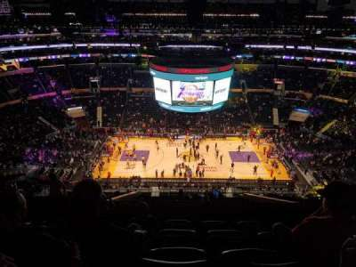 Staples Center, section: 318, row: 11, seat: 20