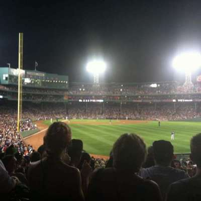 Fenway Park, section: Right Field Box 3, row: UU, seat: 1