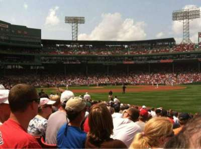 Fenway Park, section: Right Field Box 94, row: FF, seat: 5