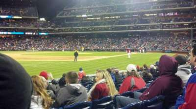 Citizens Bank Park, section: 136, row: 10
