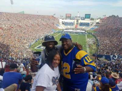Los Angeles Memorial Coliseum, section: 14H, row: 79, seat: 107