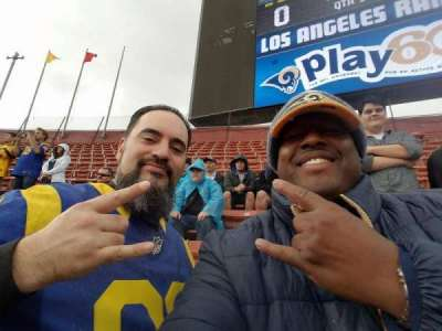 Los Angeles Memorial Coliseum section 14U