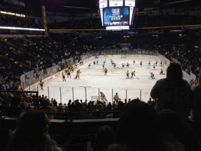 Bridgestone Arena, section: 101, row: M, seat: 8