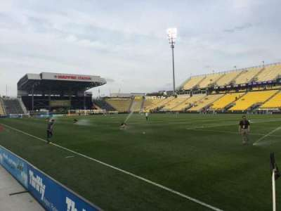 Mapfre Stadium, section: 121, row: 1, seat: 1