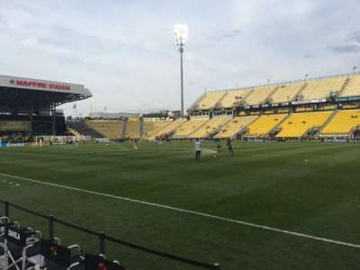 Mapfre Stadium, section: 123, row: 1, seat: 1