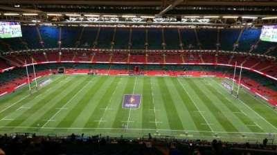 Principality Stadium, section: U30, row: 32, seat: 26