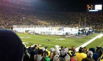 Michigan Stadium, section: 9, row: 11, seat: 4