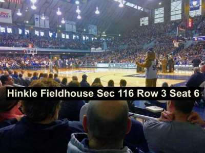 Hinkle Fieldhouse section 116