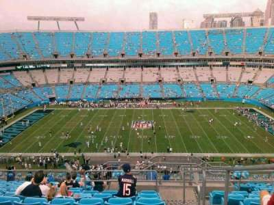 Bank of America Stadium, section: 542, row: 11, seat: 1