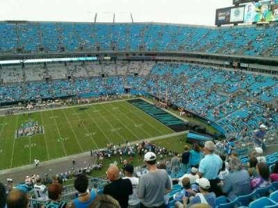 Bank of America Stadium, section: 514, row: 10, seat: 17