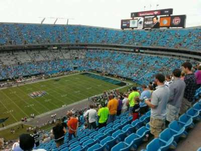 Bank of America Stadium, section: 517, row: 15, seat: 22