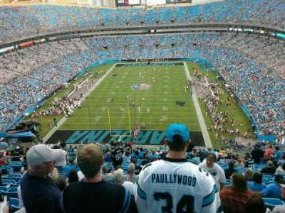 Bank of America Stadium, section: 500, row: 16, seat: 21