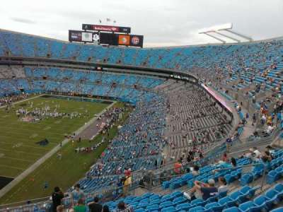 Bank of America Stadium, section: 523, row: 12, seat: 17