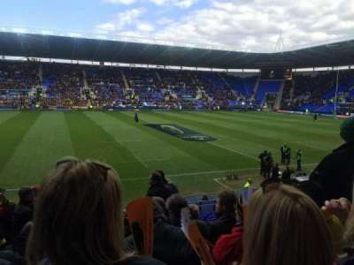 Madejski Stadium, section: G8, row: W