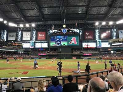 Chase Field, section: I, row: F, seat: 7