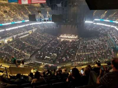 Spectrum Center, section: 232, row: N, seat: 7