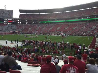 Bryant-Denny Stadium, section: LL, row: 21, seat: 10